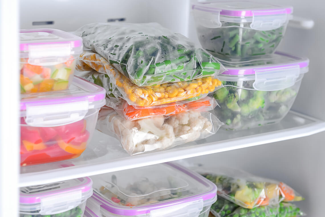 Storing fresh greens in the refrigerator