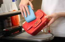Leather bag care: clean and remove stains
