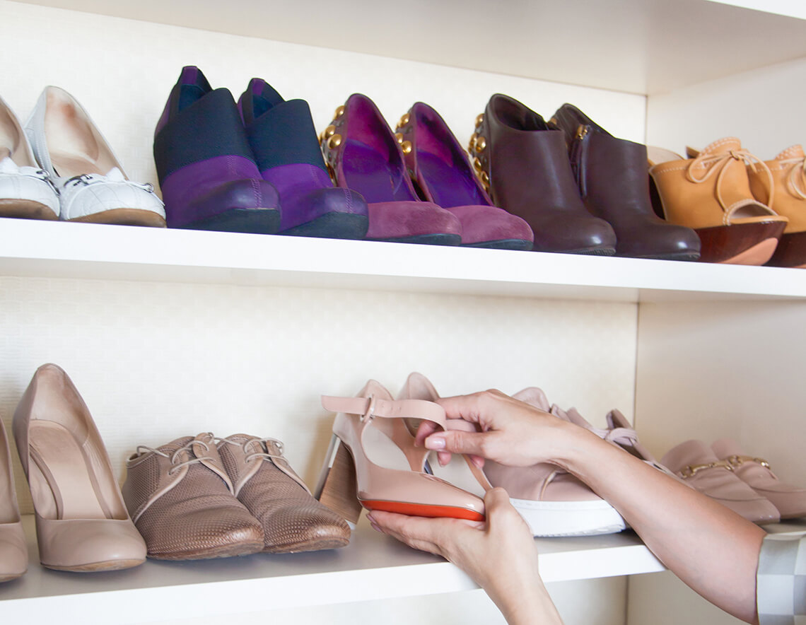 12 ideas for storing shoes