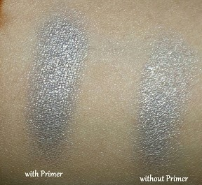 Eyeshadow with and without Primer
